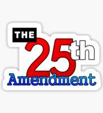 25 th Amendment US Constitution Sticker Sticker
