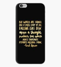 But Words Are Things iPhone Case
