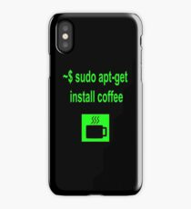 Linux sudo apt-get install coffee iPhone Case/Skin