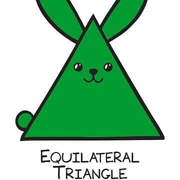 Equilateral Triangle GeoBunny by 2redheadedbros