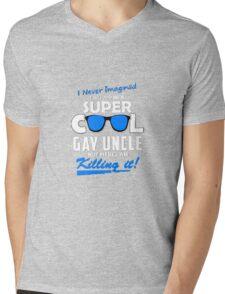 Super Cool Gay Uncle Mens V-Neck T-Shirt