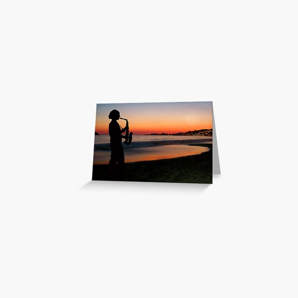 Jazz by the Sunset Greeting Card