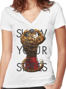 Show Your Stripes Women's Fitted V-Neck T-Shirt