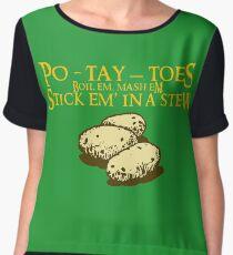 Po-tay-toes Women's Chiffon Top