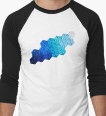 Origami One-One-Nine Blue Men's Baseball ¾ T-Shirt