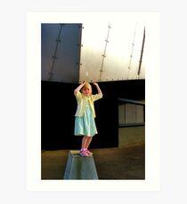 Super girl Holding up Art Print