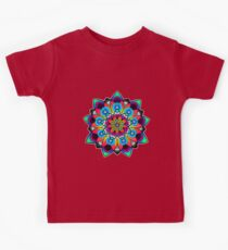 Neon Spirograph Lotus Kids Clothes