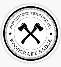 Northwest Territories Woodcraft Badge Sticker
