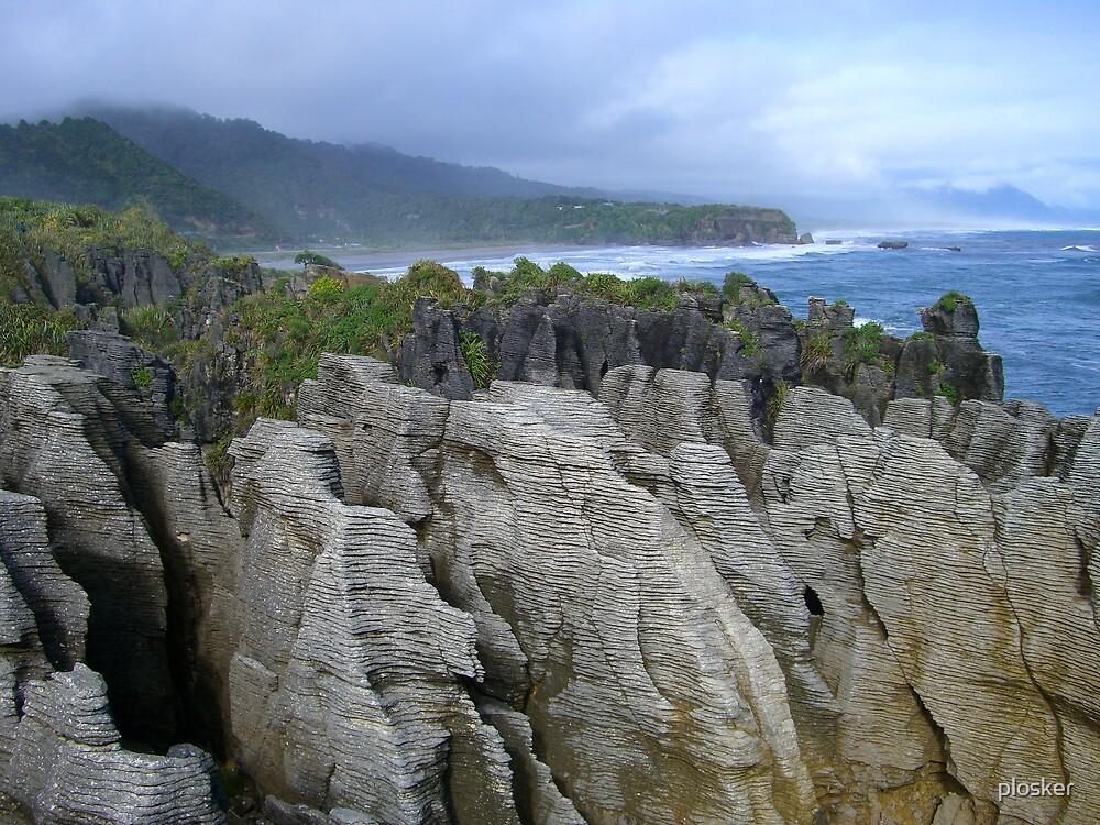 Pancake Rocks, New Zealand by plosker