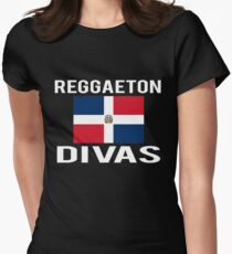 Dominican Republic Reggaeton Divas Womens Fitted T-Shirt