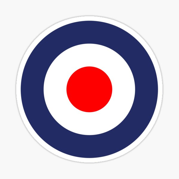 Mod Symbole Vespa Scooter UK Roundel Sticker