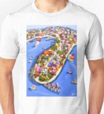 Blue water jetty Unisex T-Shirt
