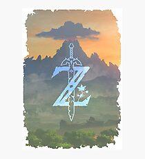 Zelda Breath of the Wild Nintendo Switch Photographic Print