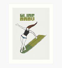 Glide Baby - Poster Art Print