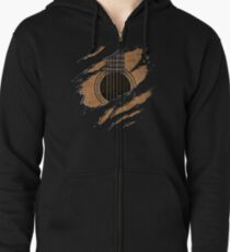 RIP Guitar (Version 1) Zipped Hoodie