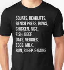 Bodybuilding List For Gains T-Shirt