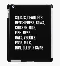 Bodybuilding List For Gains iPad Case/Skin
