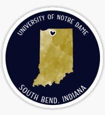 University of Notre Dame - Style 3 Sticker