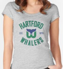 Hartford Whalers CT Women's Fitted Scoop T-Shirt