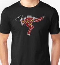 Aborigine Art Känguru Unisex T-Shirt