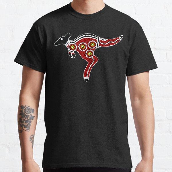 Authentic Aboriginal Art - Kangaroo Classic T-Shirt