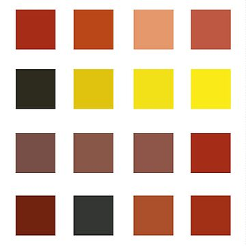 Minimalist color chart - autumn style by Severick