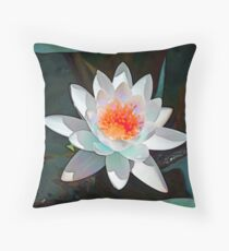 Abstract Waterlily Flower Throw Pillow