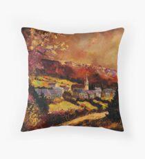 Vencimont village belgium Throw Pillow