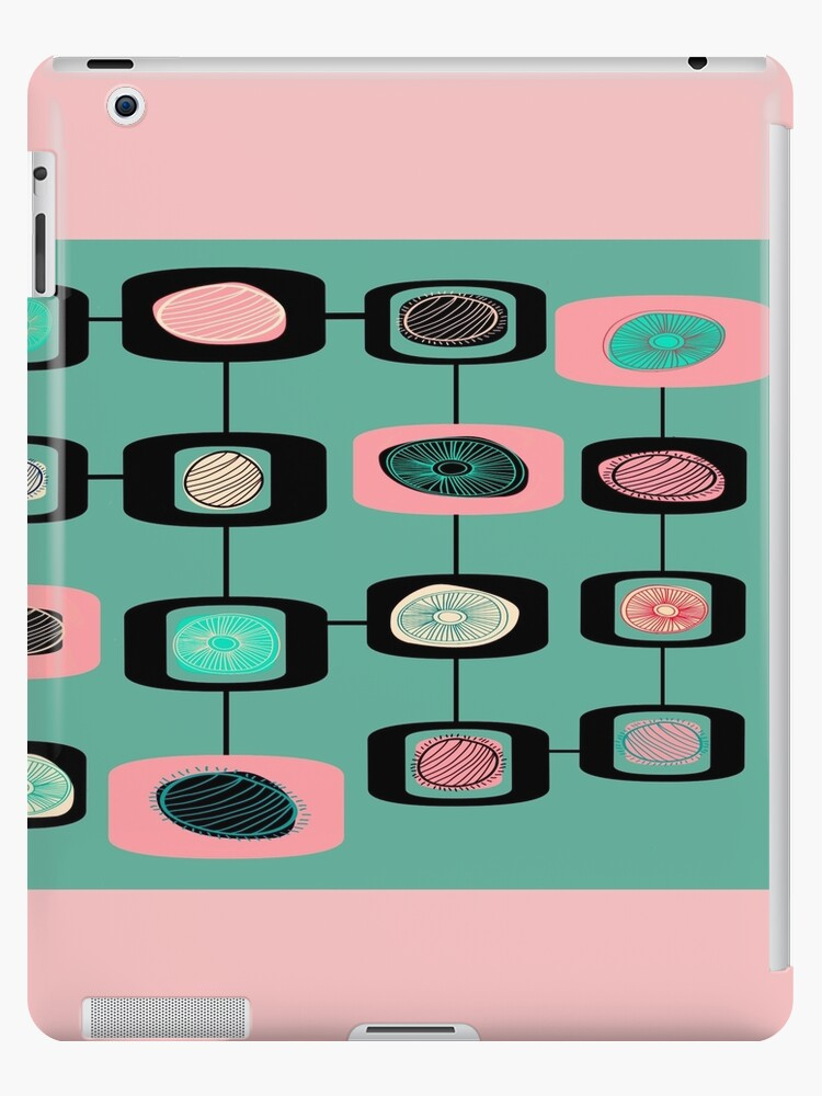 Pink And Light Green 50s pattern by PlanetLucky
