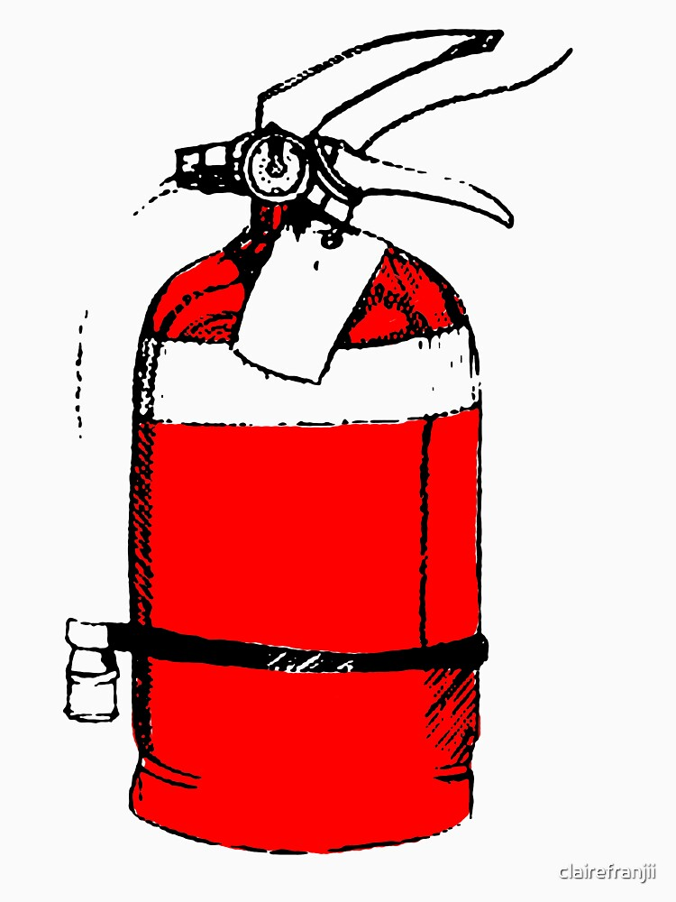 fire extinguisher by clairefranjii