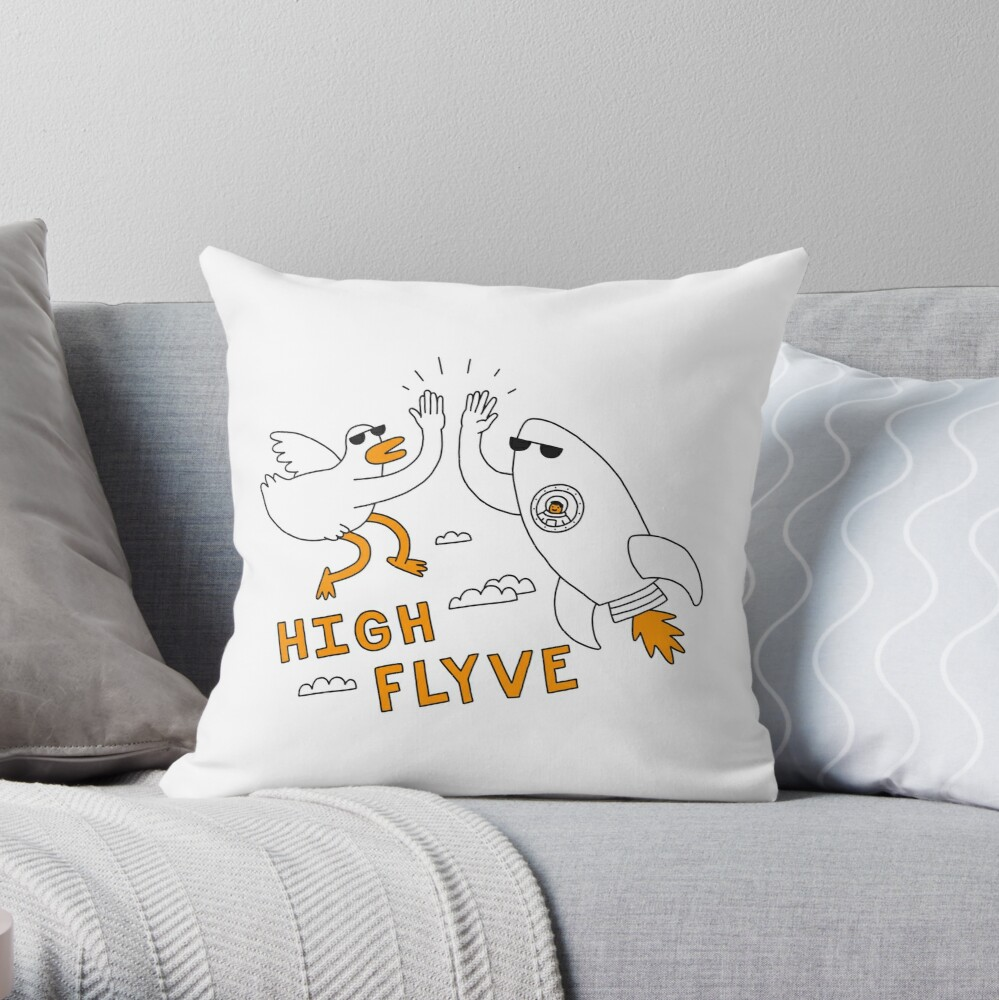 High Flyve Throw Pillow