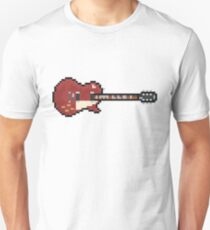 Pixel Red Page Deluxe #3 Guitar T-Shirt