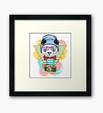 Fashionable Panda Framed Print