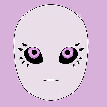 purple eyes alien by pinkfeiry