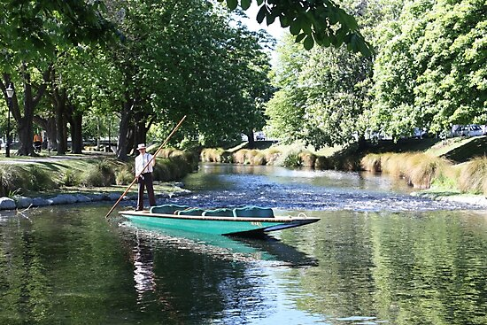 Punting on the Avon by Jon Charles