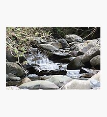 River and Rock  Photographic Print