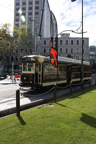 Christchurch Tram by Jon Charles