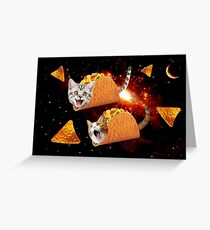Taco Cats Space Greeting Card