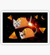 Taco Cats Space Sticker