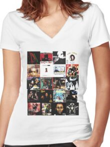 90s HIP HOP HISTORY Women's Fitted V-Neck T-Shirt