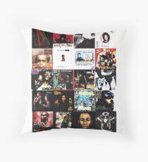 90s HIP HOP HISTORY Throw Pillow