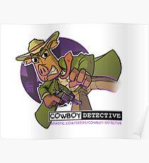 Webcomic Cowboy Detective Promos Poster