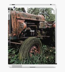 Old vintage tractor digital art iPad Case/Skin