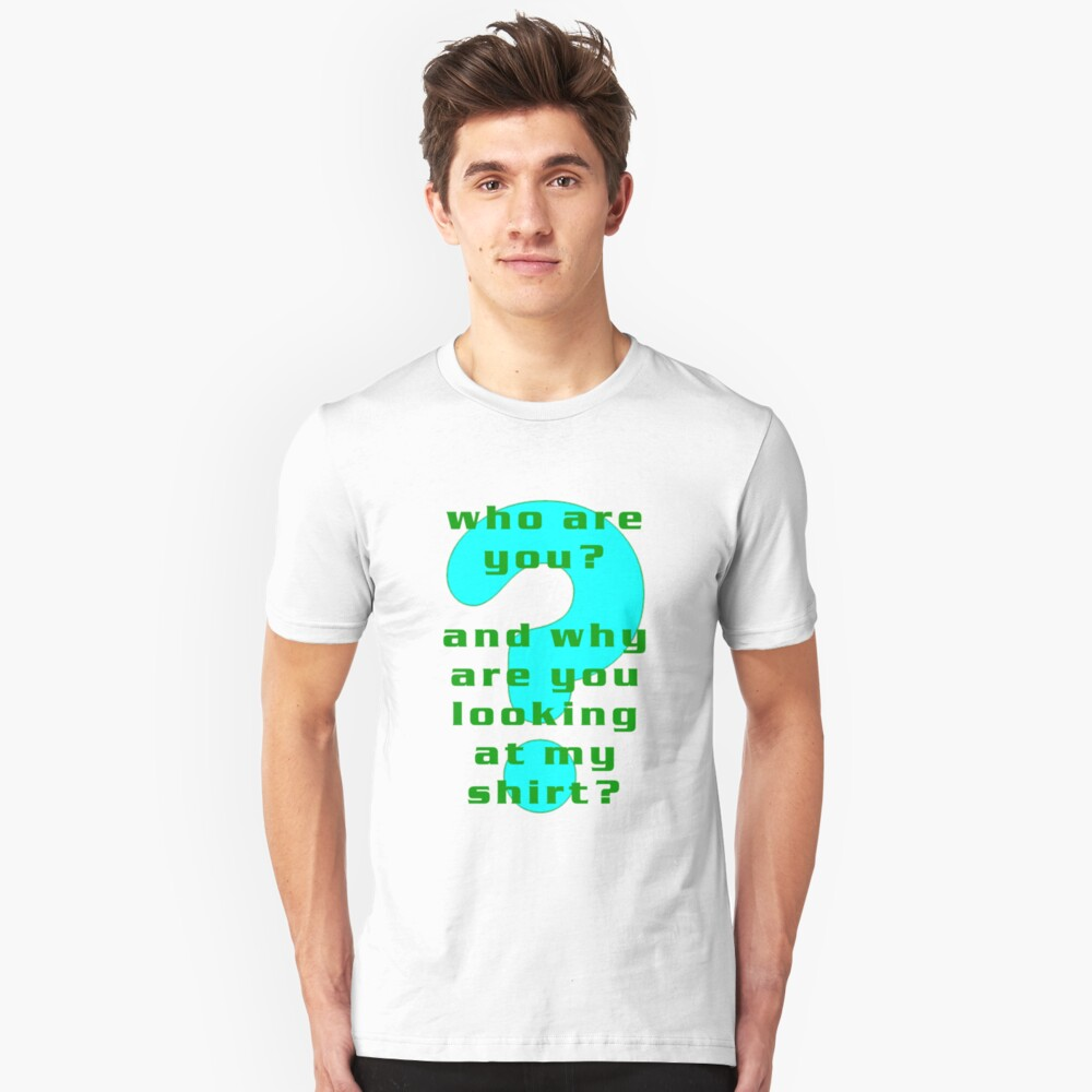 How are you.......(cyan) Unisex T-Shirt Front