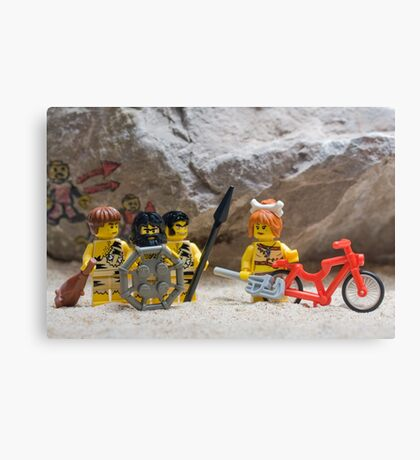 Inventing the wheel - Lego style Canvas Print