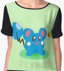 Azurill and the Rainbow Bean Women's Chiffon Top