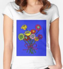 Owl Blossoms Women's Fitted Scoop T-Shirt