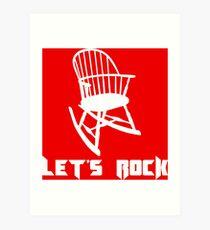 Let's Rock Art Print