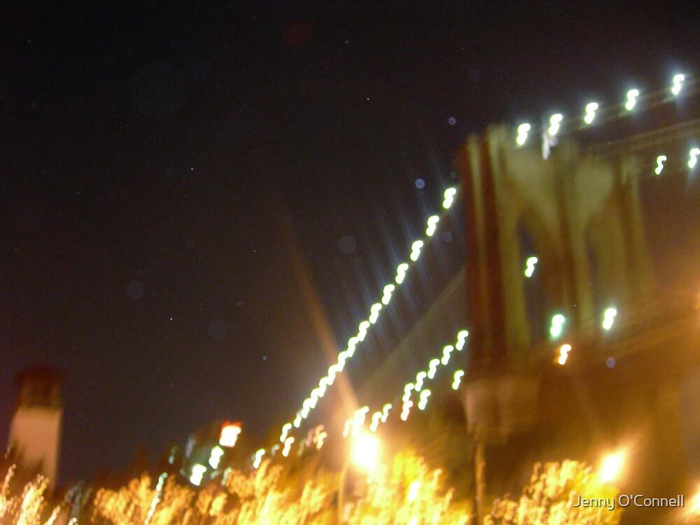Lights of Brooklyn Bridge by Jennifer O'Connell