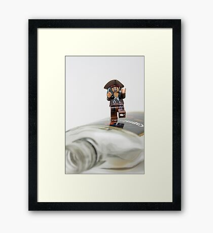 But why is the rum gone?  Framed Print